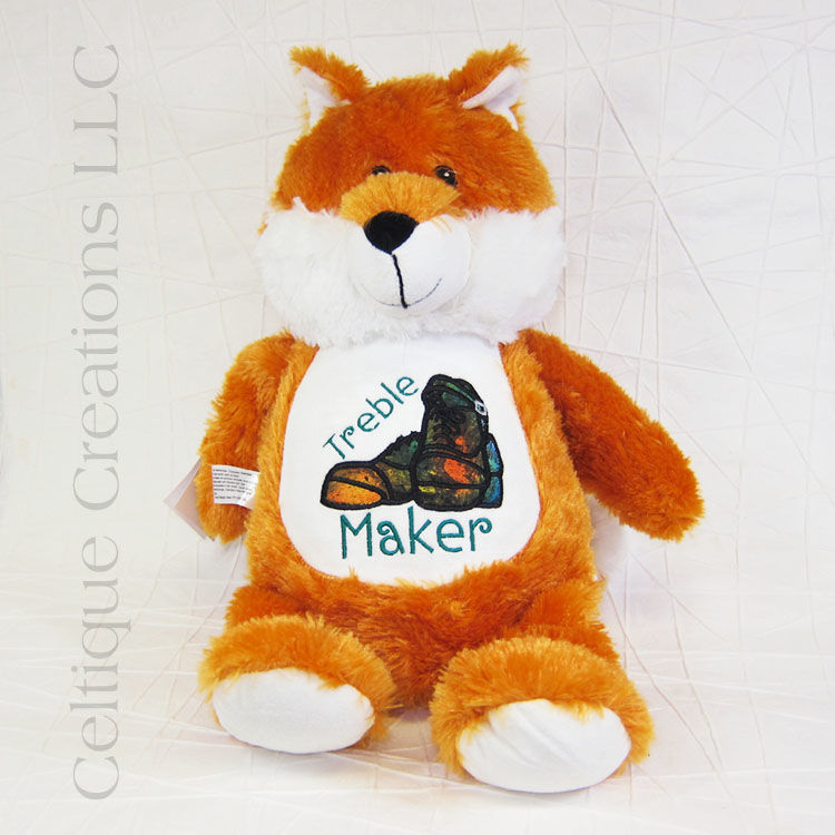Treble Maker Irish Dance Fox Cubbies Stuffed Animal