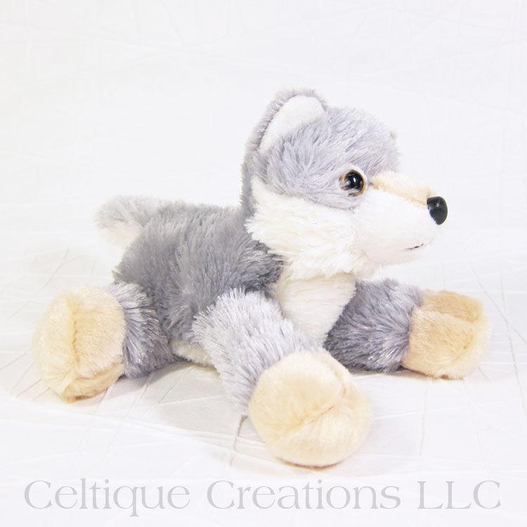 Woolsey Wolf Mini Flopsie Stuffed Animal Celtique Creations