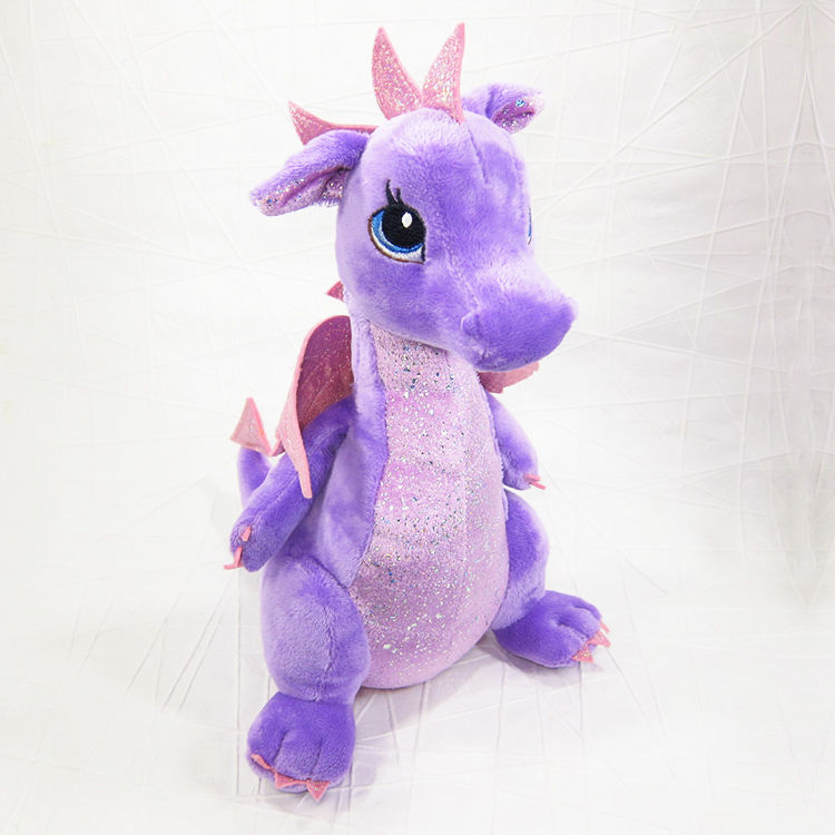 bd1d4a9a94c Larkspur Purple Dragon Stuffed Animal Fantasy Soft Toy Aurora - product  images of