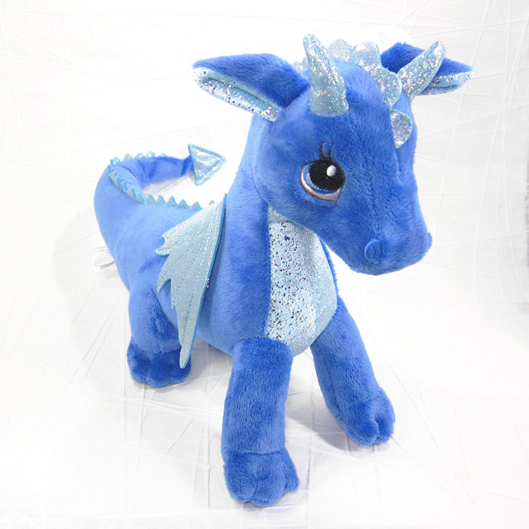 Indigo The Blue Dragon Stuffed Animal Soft Toy Sparkle Tales Aurora
