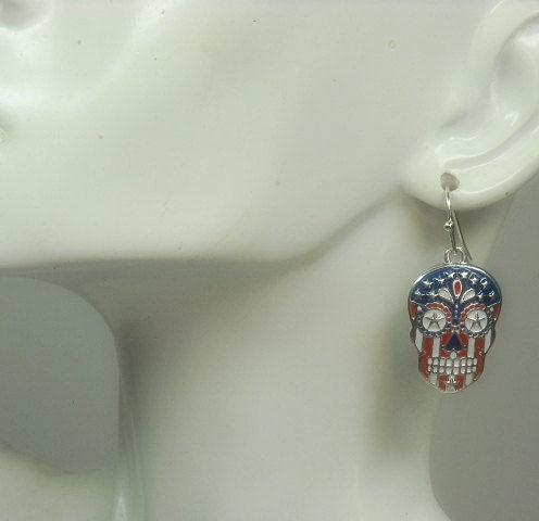 da4efa0d4 ... Sugar Skull Earrings, Dia de los Muertos, Day of the Dead, Skull Dangle  ...