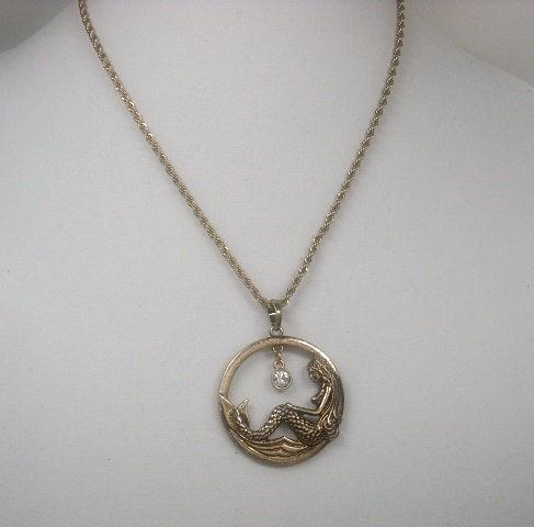 ee28abcc47e7a Mermaid Necklace Mermaid Jewelry Mermaid Pendant Rose Gold Mermaid Beach  Jewelry Nautical Necklace Ocean Sea Handmade Ariel Symbolic Hoop