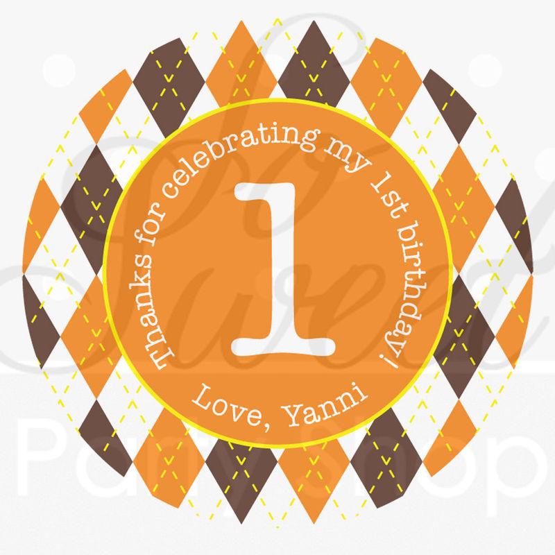 Argyle Happy Birthday Banner - Halloween, Autumn Birthday ...