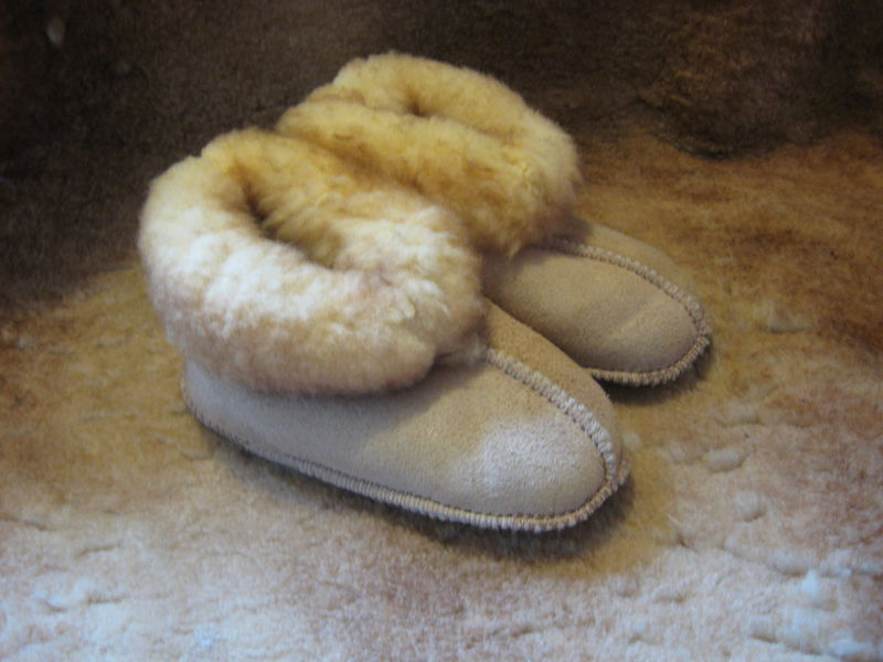 e7a48da7c Sheepskin Slippers, Babies Extra Large , Stoney Beige - product images of  ...