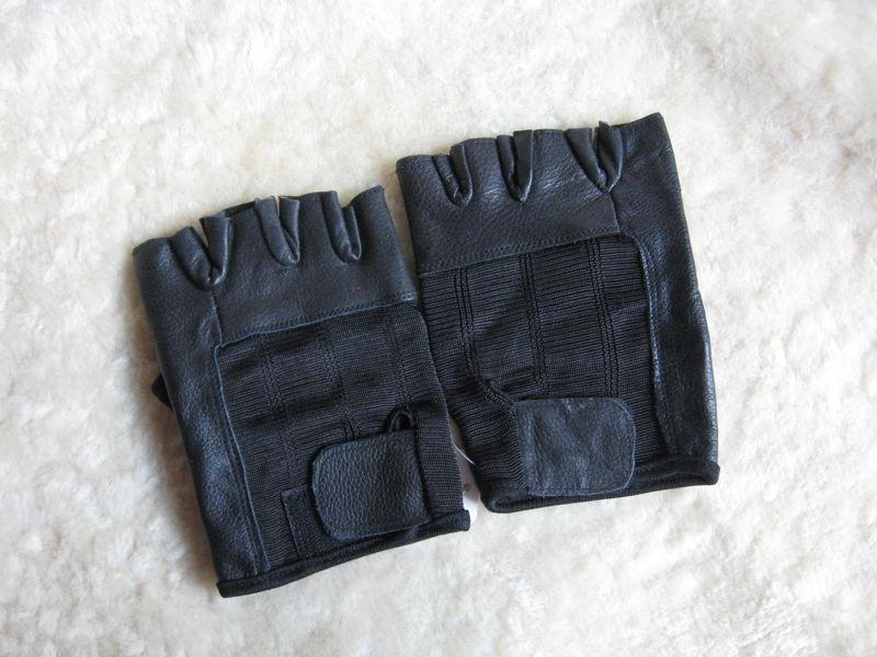 81790ed08 Fingerless Leather Gloves, XX Large - Brush Creek Wool Works