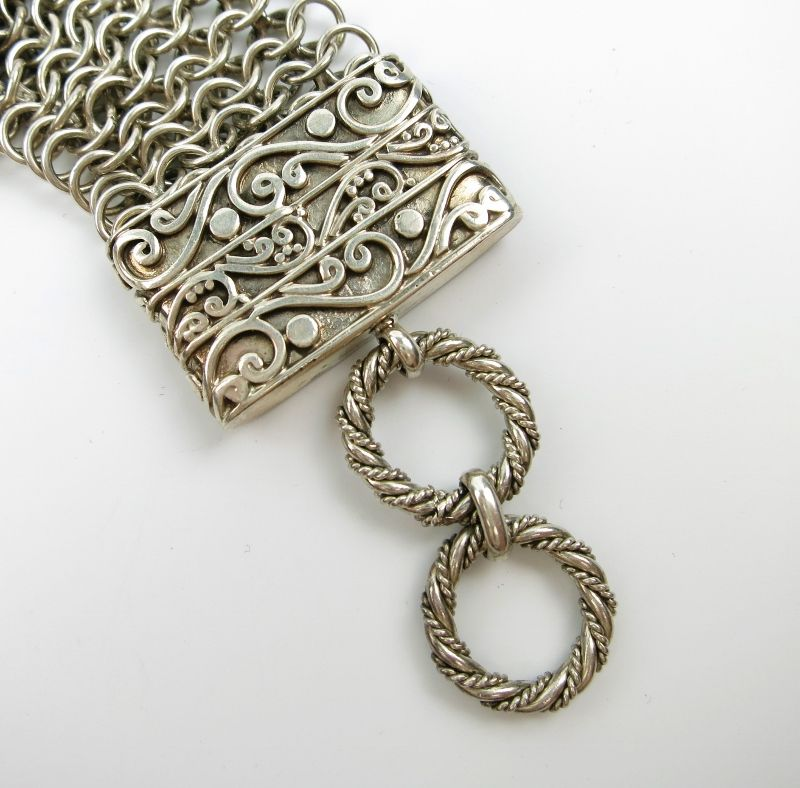 Amy Kahn Russell Sterling Silver Mesh Bracelet With